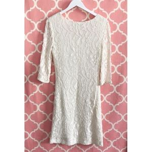 Kay Unger Dresses - Kay Unger Ivory Lace Fitted Dress SZ 16
